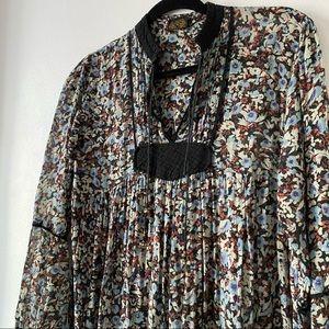 Vintage Cottagecore Boho Flowly Floral Dress